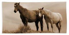 Wild Horses In Western Dakota Beach Towel