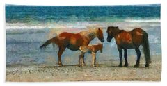 Wild Horses Of The Outer Banks Beach Towel