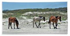 Wild Horses On The Beach Beach Towel