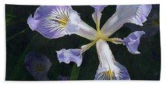 Wild Iris 2 Beach Sheet