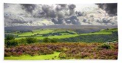 Wild Landscape Of Exmoor, Uk Beach Sheet