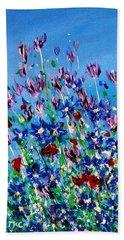 Wild Meadow Flowers Beach Towel