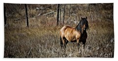 Beach Towel featuring the photograph Wild Mustang by Brad Allen Fine Art