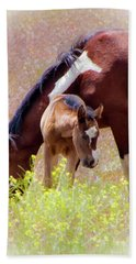 Wild Paint Horses Beach Towel