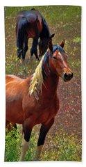 Wild Paint Stallion Beach Towel