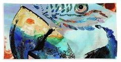 Wild Parrot Art By Sharon Cummings Beach Towel