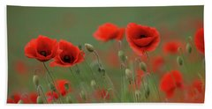 Wild Poppies Beach Towel