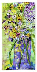 Wild Profusion Beach Towel by Lynda Cookson