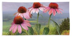 Wild Purple Coneflowers Beach Towel