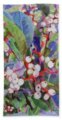Beach Towel featuring the painting Wild Raisons by Sandy McIntire