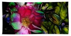 Wild Rose - Colors Beach Towel by Stuart Turnbull