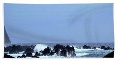 Wild Sea In Madeira Beach Towel