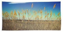 Beach Towel featuring the photograph Wild Sea Oats by Colleen Kammerer
