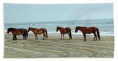 Wild Stallion And Harem  Beach Sheet