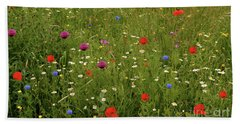Wild Summer Meadow Beach Sheet