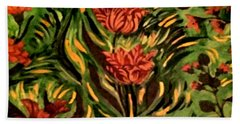 Wild Tulips Beach Sheet