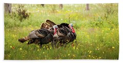 Wild Turkey's Dance Beach Sheet