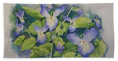 Wild Violets Beach Towel