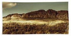 Wild West Mountain Panorama Beach Towel