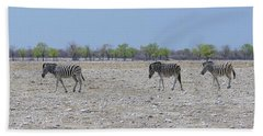 Beach Towel featuring the photograph Wild Zebra Panoramic by Ernie Echols