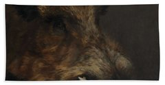 Wildboar Portrait Beach Towel