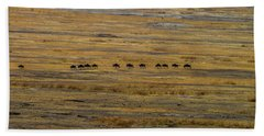 Wildebeest At Ngorongoro Beach Towel