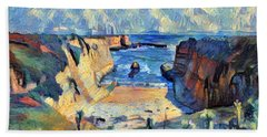 Wilder Ranch Trail Beach Towel by Denise Deiloh