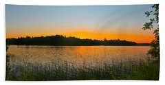 Wilderness Point Sunset Panorama Beach Sheet by Gary Eason