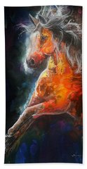 Wildfire Fire Horse Beach Towel