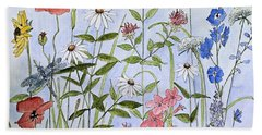 Wildflower And Blue Sky Beach Sheet by Laurie Rohner