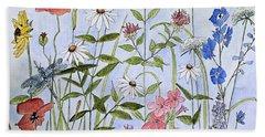Wildflower And Blue Sky Beach Towel