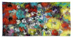 Beach Towel featuring the painting Wildflower Field by Frances Marino