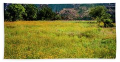 Beach Sheet featuring the photograph Wildflower Field In The Wichita Mountains by Tamyra Ayles