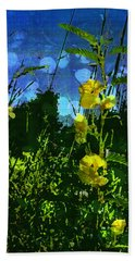 Beach Towel featuring the photograph Wildflower Field by Shawna Rowe