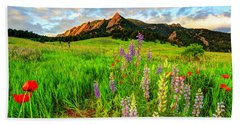 Wildflower Mix Beach Towel