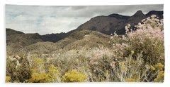 Wildflower Mountain Beach Sheet by Andrea Hazel Ihlefeld