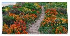 Wildflower Path At Ribera Beach Beach Towel