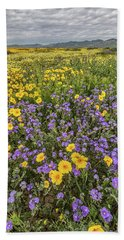 Beach Sheet featuring the photograph Wildflower Super Bloom by Peter Tellone