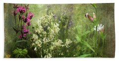 Beach Towel featuring the photograph Wildflower Symphony by Liz Alderdice