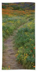Beach Sheet featuring the photograph Wildflower Trail At Diamond Lake In California by Jetson Nguyen
