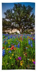 Wildflower Tree Beach Towel