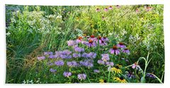 Wildflowers In Moraine Hills State Park Beach Sheet