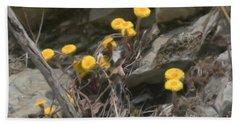 Wildflowers In Rocks Beach Sheet