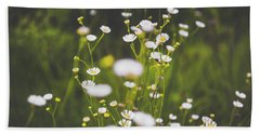 Beach Towel featuring the photograph Wildflowers In Summer by Shelby Young