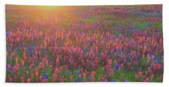 Wildflowers In Texas Beach Sheet