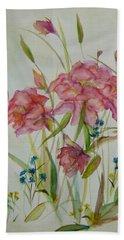 Wildflowers Beach Sheet by Judith Rhue