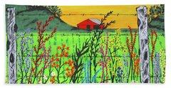 Wildflowers On The Farm Beach Towel