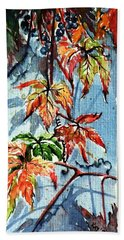 Beach Sheet featuring the painting Wildgrape by Kovacs Anna Brigitta