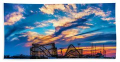 Wildwood Beach Sunset Beach Towel
