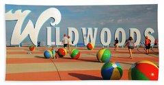 Wildwoods Beach Towel by James Kirkikis